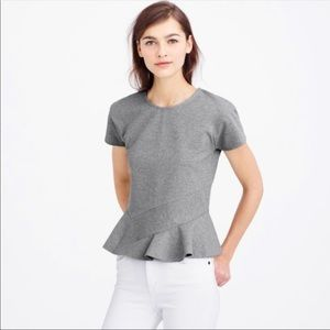J.crew structured peplum top